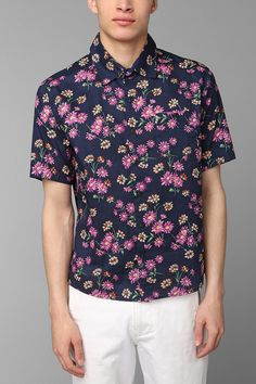 OBEY Wasted Floral Button-Down Shirt #urbanoutfitters | Men dress ...