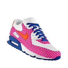 polka dot retro nikes. Pink Sneakers, Sneakers Nike, Shoe Room, Nike Co, Air Max 90, Custom Shoes, Tartan, Me Too Shoes, Cloths