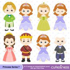 Princess Digital Clipart Princess Clipart Royal by Cutesiness