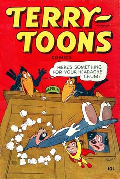 Art Bartsch cover...Terry-Toons comics #65, Feb 1948