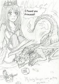 NaLu My Baby Dragon - My Pet Princess  Chap1 pg1 by Inubaki