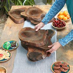 Cutting Board Walnut Gift Tree Slice Server Tray Trivet Woodland Holiday Table Decor on Etsy, $80.00