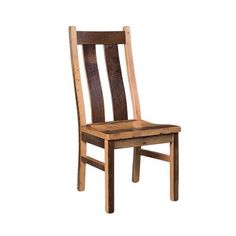 Reclaimed Barn Wood Stretford Dining Chair - Quick Ship Rustic style barn wood dining chairs. Available Quick Ship with a build time of 2 weeks. Made in Amish country, USA.