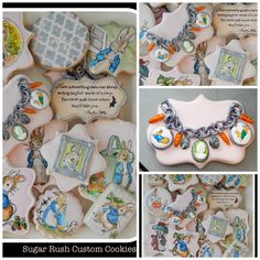 Amazing cookies for parties -  Beatrix Potter hand painted cookies by Sugar Rush Custom Cookies