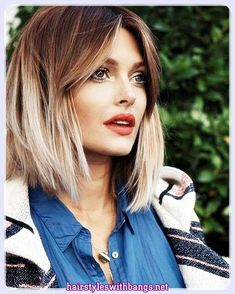 Hairstyles for medium hair with bangs and layers offer quite stylish and modern look. You can combine your hair with hairstyles with bangs and have a great.
