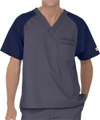 UA Best Buy Scrubs Men's Color Block Scrub Top This men's color block top from our Best Buy collection is made to last and weather the longest shifts at the office. Dental Scrubs, Medical Scrubs, Buy Scrubs, Scrubs Pattern, Medical Uniforms, Nursing Uniforms, Men In Uniform, Uniform Shop, Nursing Clothes