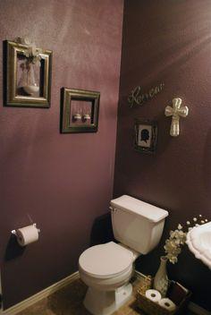 our new purple powder room.  #plum #bathroom