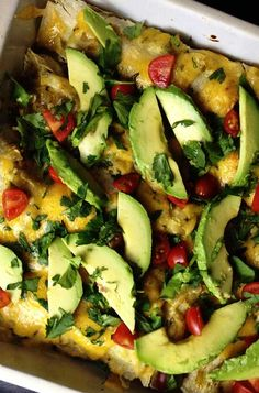 Recipe for Chorizo Breakfast Enchilada Casserole - A delicious savory breakfast casserole with a Latin twist.