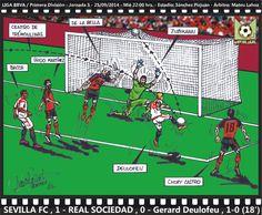 LIGA BBVA 2014-15 - Sevilla FC, 1 - Real Sociedad, 0 - Gerard Deulofeu, 1-0 (18')