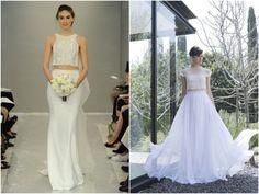 Vestidos de noiva cropped | Cropped Wedding Dresses | Wedding Gowns |