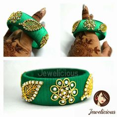 Saved for reference only Silk Thread Earrings Designs, Silk Thread Bangles Design, Silk Bangles, Bridal Bangles, Thread Jewellery, Tatting Jewelry, Paper Jewelry, Beaded Bracelet Patterns, Jewelry Patterns