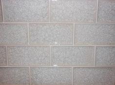 Subway Crackle Glass Tile - Bianco Perla