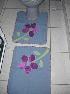 Denim Rug, Bathroom Sets, Fabric Flowers, Kids Rugs, Quilts, Crochet, Projects, Crafts, Home Decor