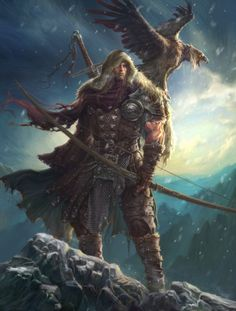 Winter is coming Picture (2d, illustration, winter, hunter, archer, warrior, fantasy)