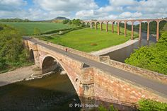 Drygrange Bridge and Leaderfoot Viaduct  near Melrose, Scottish Borders, Scotland, UK;  photo by Phil Seale