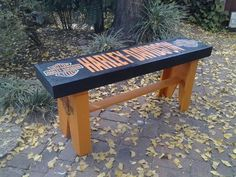 Harley Davidson Wooden Bench . AL0371 ....Need a few of these ..