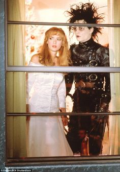 A big hit for a young lady: Winona wore a blonde wig to work with Johnny Depp in 1990's Edward Scissorhands