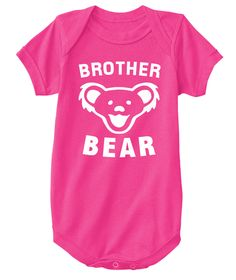 Brother Bear Baby Tee Hot Pink T-Shirt Front