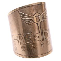 Brass Handmade Wrap Ring From Freedom Culture. Only $6 and one dollar goes to stop sex trafficking.