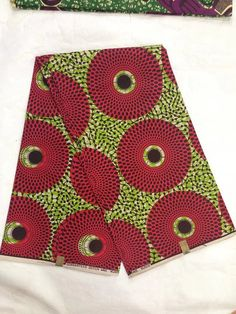 African Wax Printed Cloth Guaranteed Red  by FashionCraftBoutique