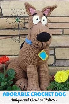 Crochet Amigurumi Rabbit Patterns Make this adorable crochet dog for your kids or yourself. He kinda looks liks scooby doo. Crochet Toys Patterns, Crochet Designs, Stuffed Toys Patterns, Crochet Dolls, Knitting Patterns, Free Knitting, Scooby Doo, Crochet Gratis, How To Start Knitting