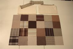 """Baby Quilt Kit """"It's Hip to Be Square"""" – Brown and Cream 