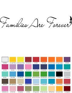 FAMILIES ARE FOREVER VINYL WALL QUOTE Custom Vinyl Wall Decals, Vinyl Wall Quotes, Temporary Housing, How To Remove, How To Apply, Small Quotes, Families Are Forever, Walls, Petty Quotes