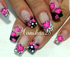 Cute Nail Art, Cute Nails, Pretty Nails, Valentine's Day Nail Designs, Fingernail Designs, Nail Art 2014, Mobile Nails, Wow Nails, How To Grow Nails