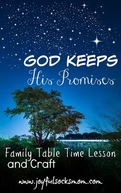 God Keeps His Promises Table Time Lesson & Banner Craft for Family Devotion.