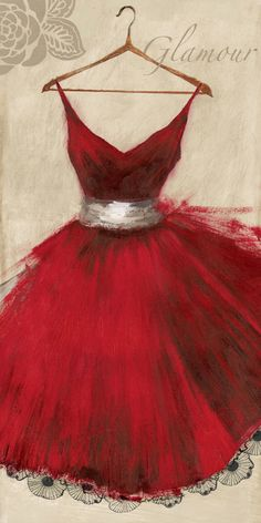 Fashion Illustration Art Print: Glamour by Aimee Wilson : - Little Red Dress, Pink Dress, Lace Dress, Illustration Mode, Fashion Art, Fashion Design, Fashion Glamour, Fashion Vintage, Trendy Fashion