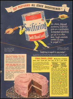 1948 Vintage Ad for Swift's Bland Lard