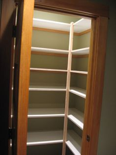 wood pantry shelves