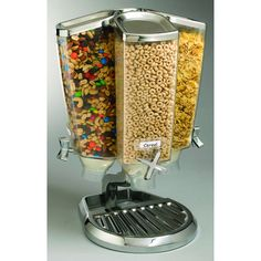 The ultimate cereal dispenser for display and self-serving. http://www.hubert.com