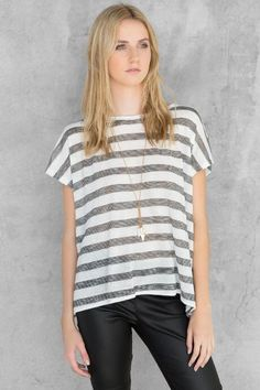 Cherie Striped Bow Blouse $34.00