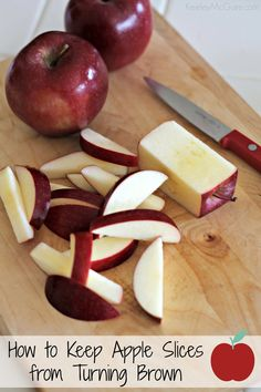 How to Keep Apple Slices From Turning Brown. #lunchtips