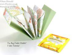 POOTLES Stampin' Up! UK Tea Bag Holder Folder Tutorial open