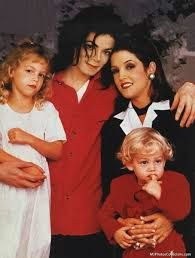 Michael Jackson, Lisa Marie, Riley and Ben