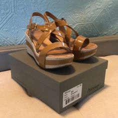 273c082666 Shop Women's Antelope Tan size 9 Wedges at a discounted price at Poshmark.  Description: Very cute and comfortable Antelope wedges.