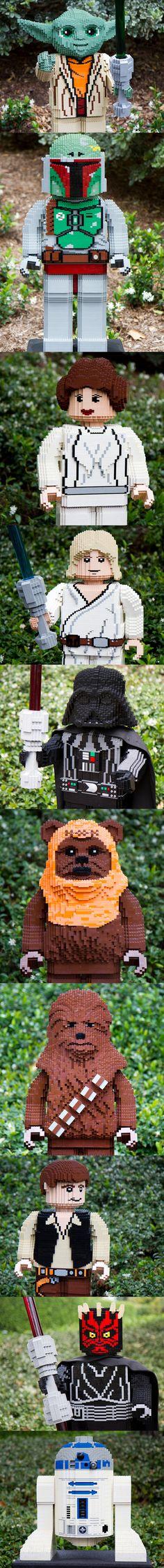 Yoda, Boba Fett, Leila, Luke Skywalker, Darth Vader, Ewok, Chewy, Han Solo, Darth Maul, R2D2