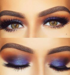 Need simple makeup tips? Want to know how to use eyeliner and eyeshadow effectively? You'll find what you're looking for in this tutorial featuring makeup videos and pictures. You can find impressive pink, yellow, dark, sunset, glitter and orange eye shadow works on brown, green, hazel and blue eyes. A few colorful eye makeup is waiting for you again. You are in the right place for foundation, blush, eyeshadow palette, eyelashes and much more makeup ideas. #EyeMakeupGlitter Eyeshadow Tips, Blue Eyeshadow, Eyeshadow Looks, Eyeshadow Palette, Colourpop Eyeshadow, Eyeshadow Primer, Eyeshadow Makeup, Perfect Eyes, Perfect Makeup