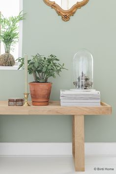 Restyling groene wand woonkamer ©BintiHome kleur voor in de keuken