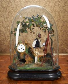 "French Musical Automaton ""The Gentleman Monkey Landscape Artist"" by Phalibois. Circa 1880. http://Theriaults.com"