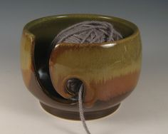 Yarn / Knitting Bowl  Wheel Thrown Stoneware by by SeizPottery, $29.00
