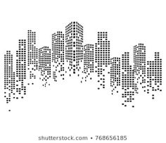 Find Modern City Skyline Vector Illustration stock images in HD and millions of other royalty-free stock photos, illustrations and vectors in the Shutterstock collection. Contour Line Art, Van Signs, Mark Tattoo, Magazine Design Inspiration, Architecture Logo, Ad Design, Graphic Design, City Illustration, Modern City