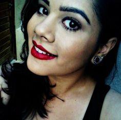 A @maricoliveiraa, da NYX do Parque Shopping Maceió, usando o Soft Matte Lip Cream Monte Carlo