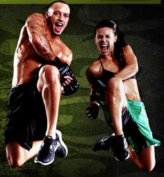 Les Mills Combat trainers Dan Cohen and Rachel Newsham....Email me today to get started! JDawson1121@gmail.com