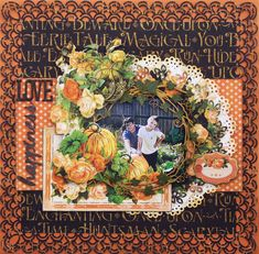 Oct 2014 Graphic 45  An Eerie Tale - Halloween-Scrap, Travel, and Bark!: An Eerie Tale pumpkin layout and quick tutorial!