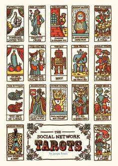 Social Media-Inspired Tarot Cards : modern tarot