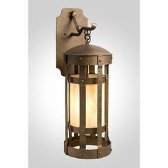 Steel Partners Duomo 1 Light Outdoor Wall Lantern Shade Color: Bungalow Green, Finish: Mountain Brown
