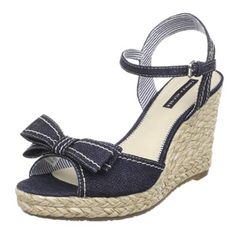 Summer Bow Wedges